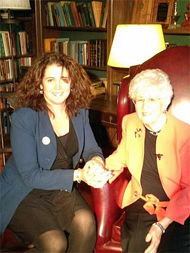 Dr. Eileen O'Grady with Dr. Loretta Ford